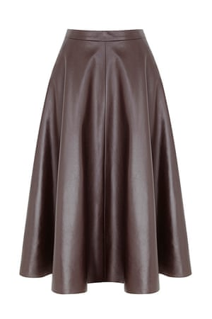 best skirts: flared leather skirt