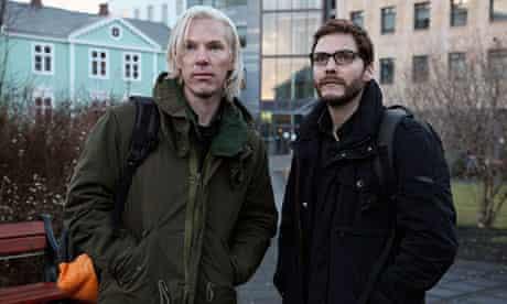 Daniel Brühl with Benedict Cumberbatch in The Fifth Estate.