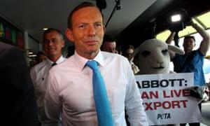 Tony Abbott in Brisbane on 5 September 2013.