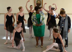 The wife of South African President Jacob Zuma, Gloria Bongi Ngema-Zuma visits the Vaganova Ballet Academy during the G20 Summit, in St. Petersburg, Russia