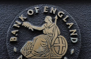 A close up of the Bank of England sign in London, Britain.