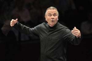 Proms: Sir Mark Elder conducting his Hallé Orchestra