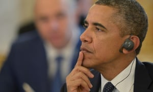 And Barack Obama listens intently.