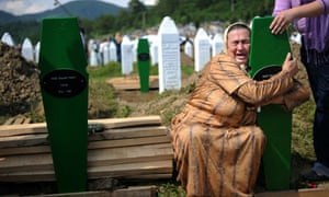 Bosnian woman at Srebrenica
