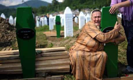 Bosnian woman at Srebrenica