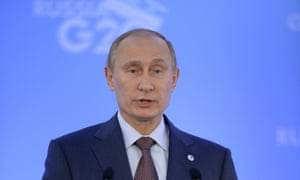 Russia's President Vladimir Putin gives a press conference at the end of the G20 summit.