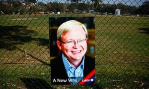 A poster of Kevin Rudd