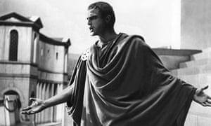 Marlon Brando as Mark Anthony in the 1953 film Julius Caesar