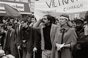 Lewis Morley: Stephen Hawking, Tariq Ali and Vanessa Redgrave front a demonstration