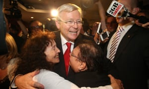 Kevin Rudd's election night function at the GABBA in Brisbane on Saturday 7th September 2013.
