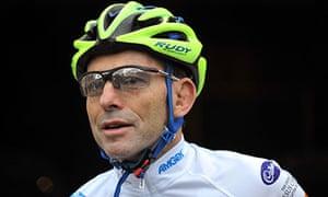 Tony Abbott - bike helmet