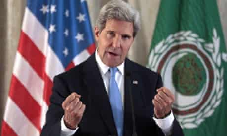 US Secretary of State John Kerry holds a press conference at the US embassy in Paris as part of his campaign to win backing for military strikes in Syria.