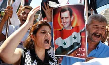 Pro-Assad demonstrators, Lebanon