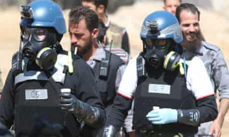 UN chemical weapons experts, Damascus