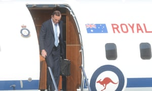 Tony Abbott arrives in Canberra ahead of a Coalition party room meeting to discuss the new cabinet.