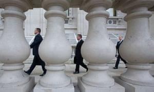Civil servants in Whitehall