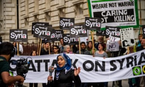 anti-war protesters in London