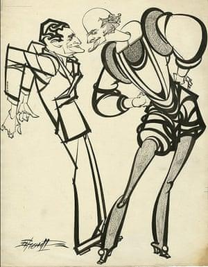 Sherriffs cartoons:  Ivor Novello and Shakespeare