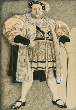 Sherriffs cartoons: Charles Laughton as Henry VIII, 1933All images copyright Cartoon Museum