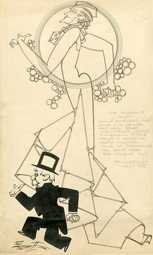Sherriffs cartoons: Gracie Fields in The Rochdale Hunt at the London Palladium. Publishedin The