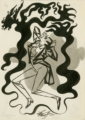 Sherriffs cartoons: Scene from Symphonie Fantastique featuring Leonide Massine. Published in Th