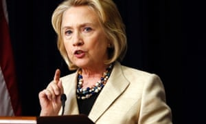 Former US Secretary of State Hillary Clinton speaks at an event at the White House. Clinton backed Barack Obama's attempts to seek military action against Syria and urged Congress to support him.