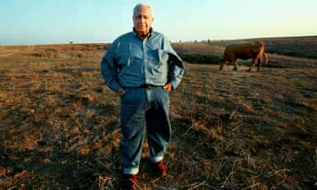 Ariel Sharon on his farm