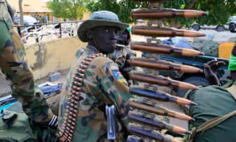 South Sudan army soldier