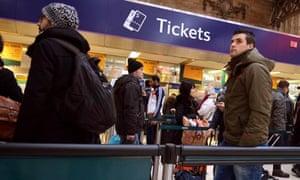 Queue for rail tickets