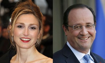 French actor Julie Gayet and President François Hollande, who are alleged to be having an affair