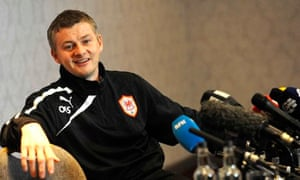 Cardiff City manager Solskjaer speaks to the media
