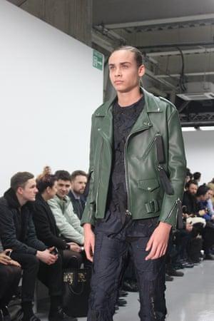 Forest Green biker jacket at