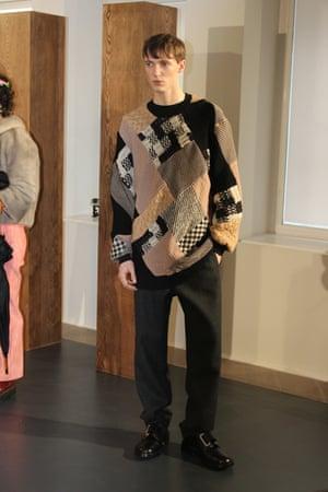 Jacquard sweater at Nicole Farhi.