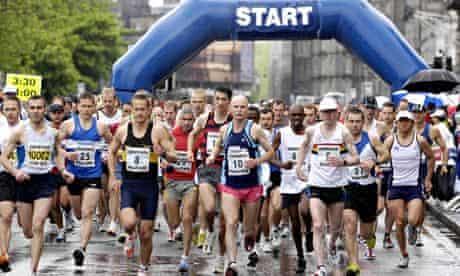 The Edinburgh marathon … 'a long run can take you out of your head space.'