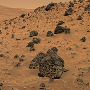 Lava rocks at Gusev Crater