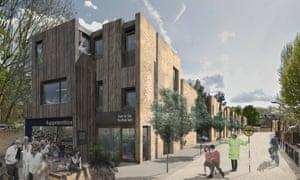 Secret garden … A proposal by Sam Causer and Geraldine Dening for the Palmer Garages site in Islington.