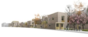Clever terrace … A design for the Morpeth Road site in Hackney by 5th Studio.