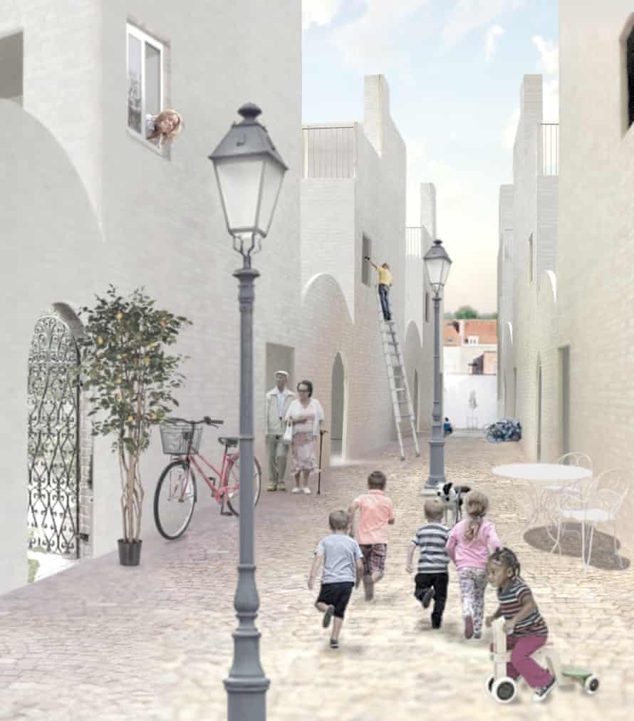 Playful streets … A scheme for the Palmer Garages site in Islington by Stephen Taylor.