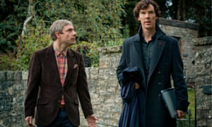 Martin Freeman as John Watson and Benedict Cumberbatch as Sherlock Holmes in Sherlock
