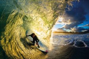 Incredible waves: Brit surfer Oli Adams