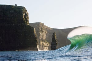 Incredible waves: Cliffs of Moher in County Clare
