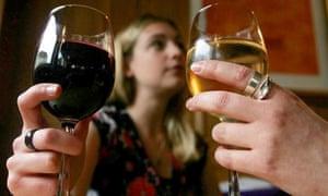 Wine drinkers in London