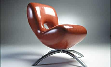 A chair made from Zeoform