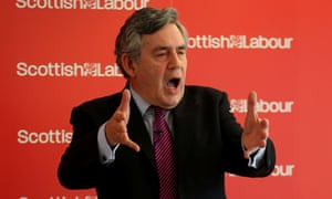 Gordon Brown has called for greater devolution and attacked the SNP's figures for an independent Scotland's finances