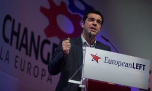 Alexis Tsipras, leader of the Greek left leaning party SYRIZA