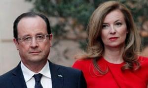 Francois Hollande and Valerie Trierweiler