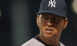 New York Yankees' Alex Rodriguez looks back against the Boston Red Sox
