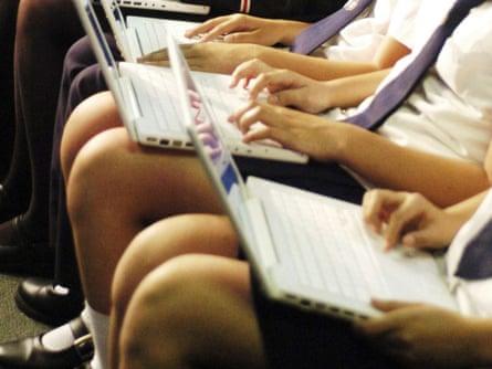 Students at a high school in Parramatta, western Sydney