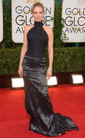 Golden Globes fashion 13: Uma Thurman