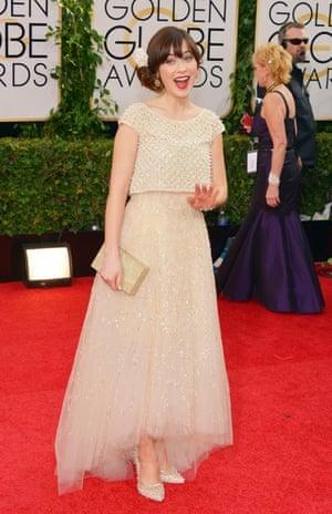 Golden Globes fashion 13: Zooey Deschanel